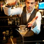 Tiago finishing off his Dirty Martini Twist