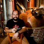 Chip tate in his distillery