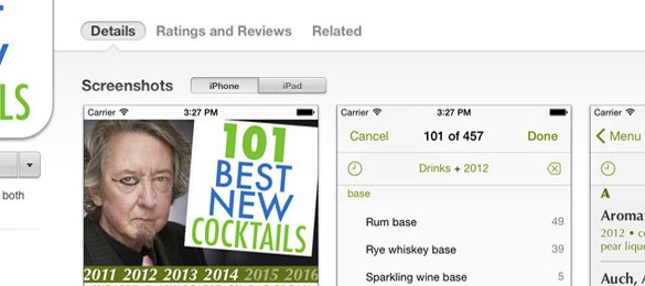101 Best New Cocktails App Launches