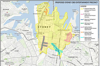 The area of Sydney affected