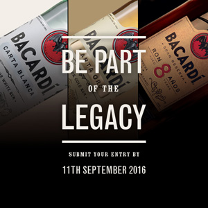 BarLifeUK Competitions - Bacardi Legacy Now Accepting Entries for 2017 Cocktail Competition