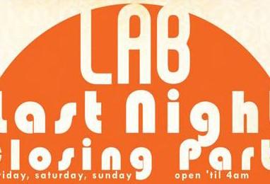 LAB Closing Weekend Charity Shindig